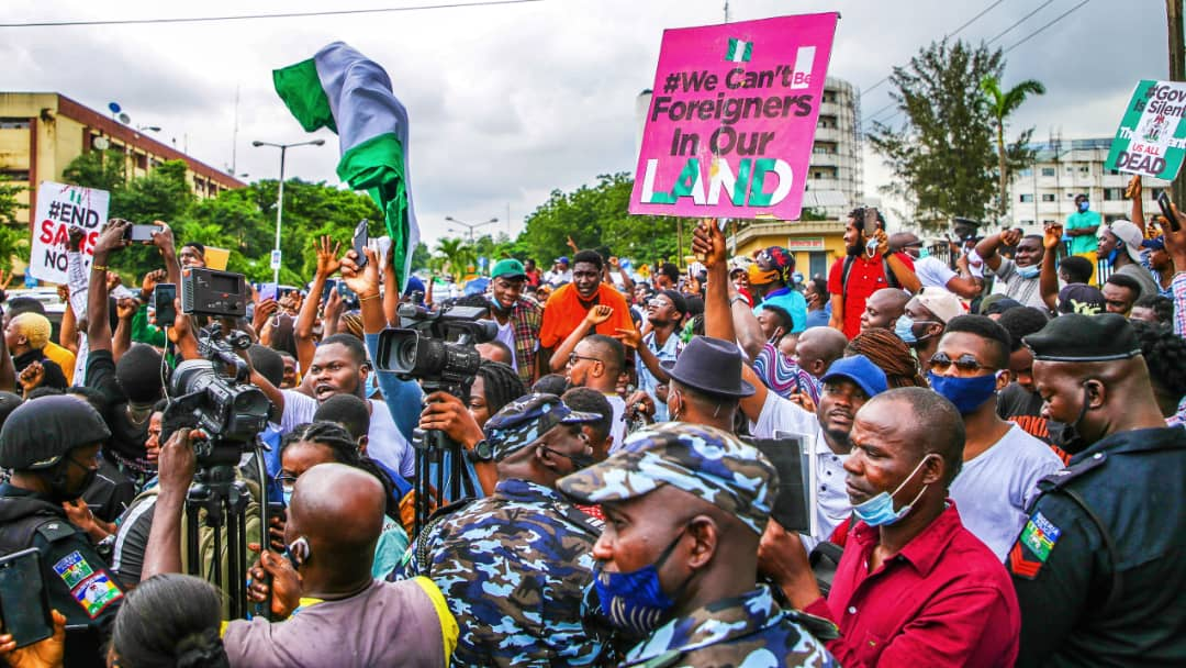 Demand an international inquiry into the Nigerian government's mass killing of people in Lagos