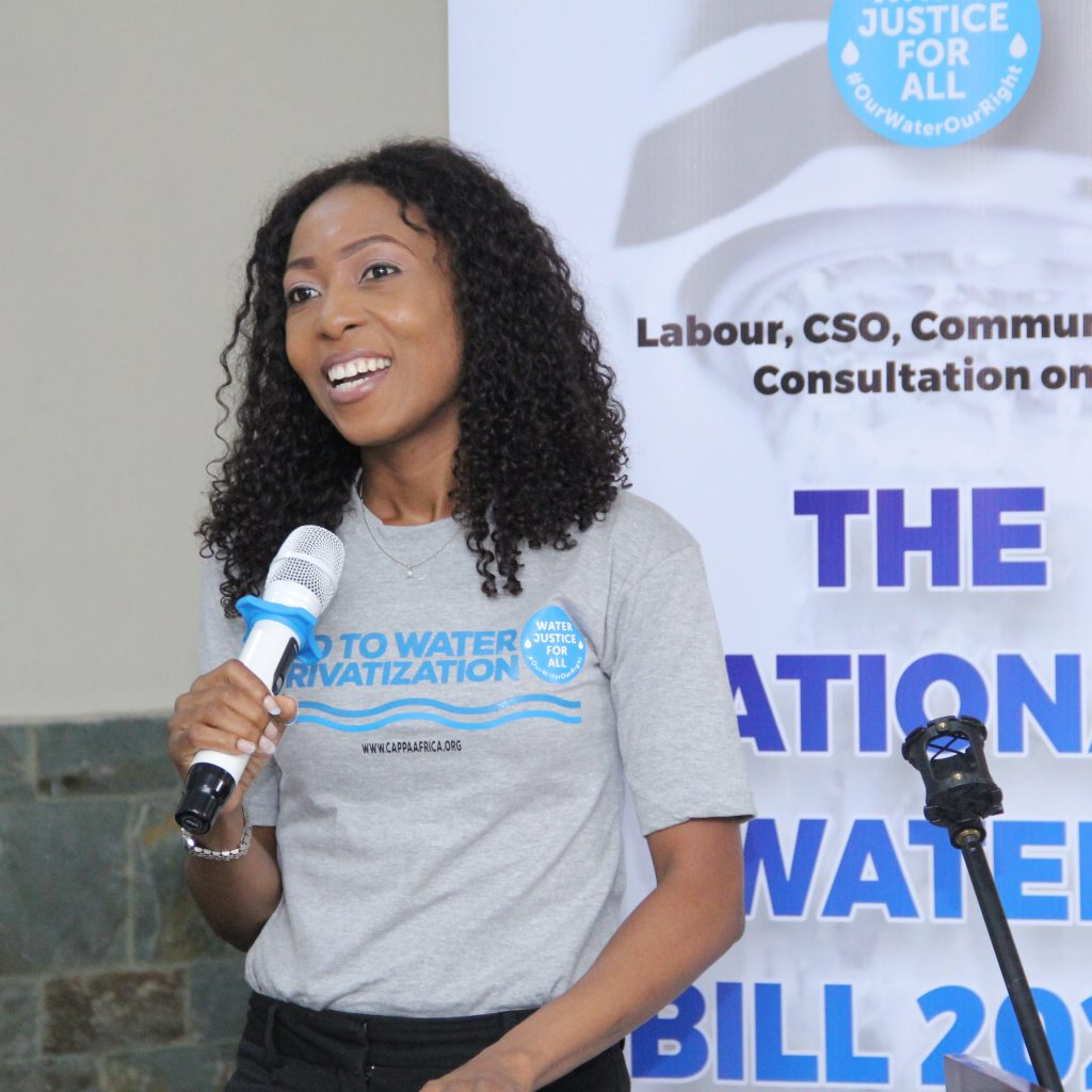 Aderonke Ige at the Labour, CSOs, Communities Consultation on National Water Resources Bill