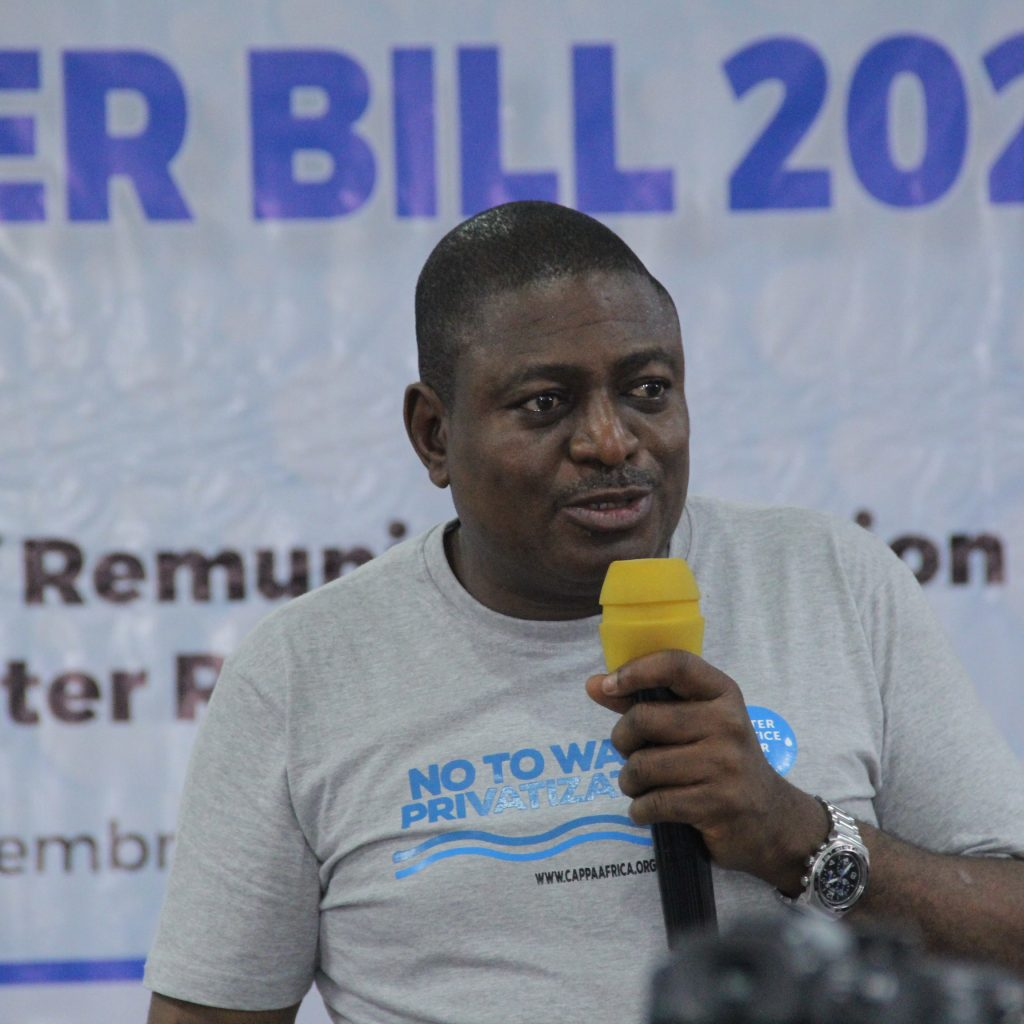 CAPPA E.D. Akinbode Olufemi at the Labour, CSOs, Communities Consultation on National Water Resources Bill