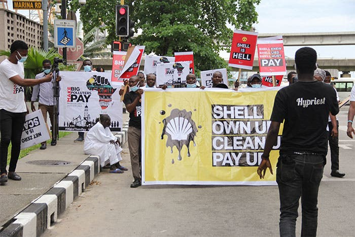 'Net Zero': CAPPA, Activists Take Climate Protest to Shell's Corporate HQ in Lagos