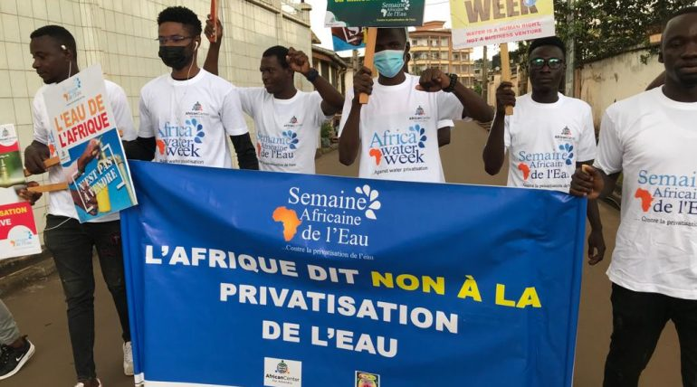 Africa Water Week: Activists, labor union march against water privatization in Cameroon
